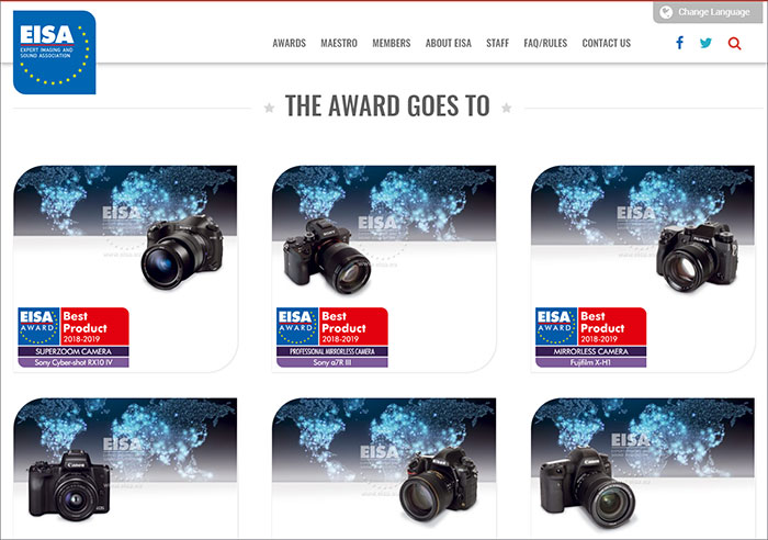 EISA Photo Awards 2018-2019 announced – Photo Review